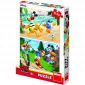 Puzzle 2 in 1 - Mickey campionul