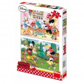 Puzzle 2 in 1 - Minnie cea harnica