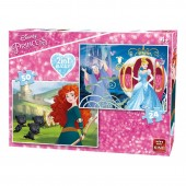Puzzle 2 in 1 Princess Brave/Cindarrela