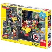 Puzzle 3 in 1 - Cursa lui Mickey Mouse