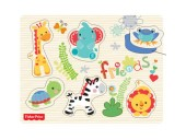 Puzzle din lemn animale Fisher Price