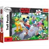 Puzzle Trefl Disney Mickey Mouse, Joaca pe role 100 piese