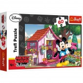 Puzzle Trefl Disney Mickey Mouse, Mickey si Minnie in gradina 60 piese