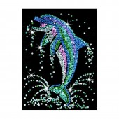 Sequin art 2D - set creativ Delfin sarind