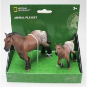 Set 2 figurine Calutul Appaloosa si manz - National Geographic