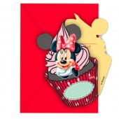 Set 6 invitatii petrecere - Disney Minnie Mouse