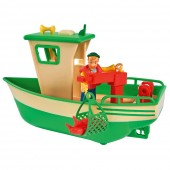 Set de joaca Barca Simba Fireman Sam Charlies Fishing Boat cu figurina NEW