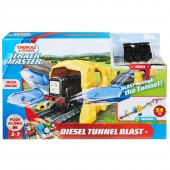 Set Fisher Price Thomas and Friends Diesel Tunel Blast sina cu locomotiva motorizata