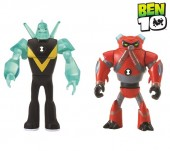 Set jucarie Mini Figurine BEN 10 - Cap de Diamant & Overflow