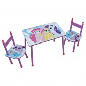 Set masuta si 2 scaunele My Little Pony