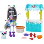 Set Papusa Enchantimals papusa Winsley Wolf, figurina Trooper si accesorii