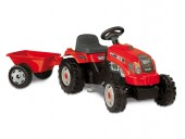 Tractor copii Smoby Farmer Red cu remorca si pedale