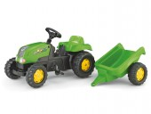 Tractor Cu Pedale Si Remorca ROLLY TOYS Verde