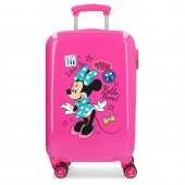Troler calatorie copii ABS 55 cm 4 roti Enjoy Disney Minnie Mouse Hi Love