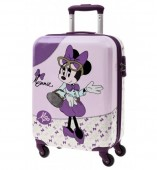 Troler pentru calatorie PREMIUM ABS 55 cm 4 roti Disney Minnie Mouse Glam